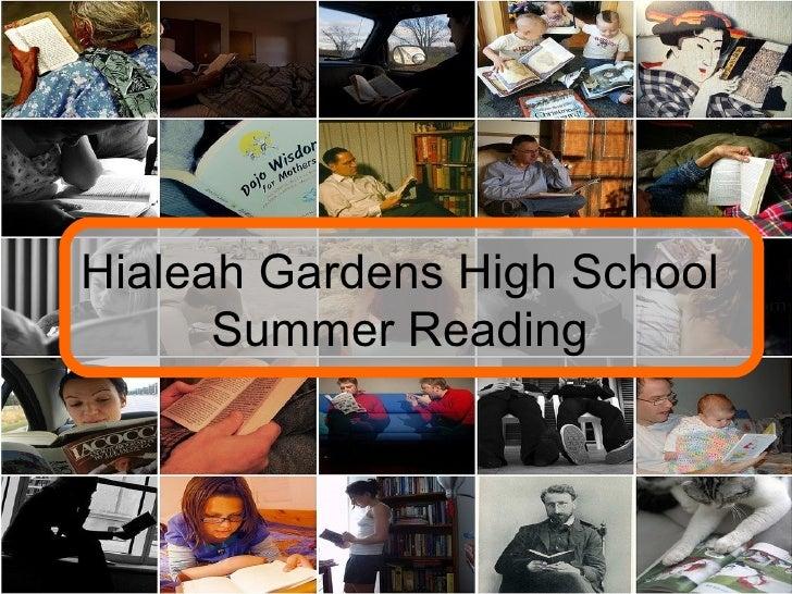 Hialeah Gardens High School Summer Reading