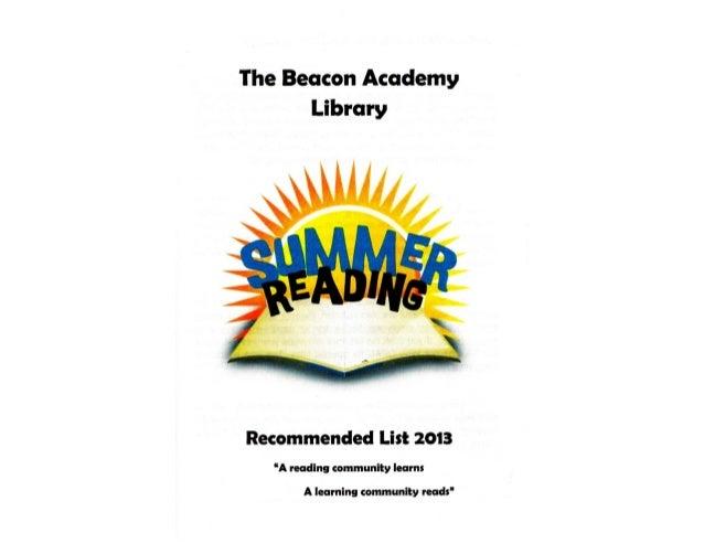 Summer reads 2013