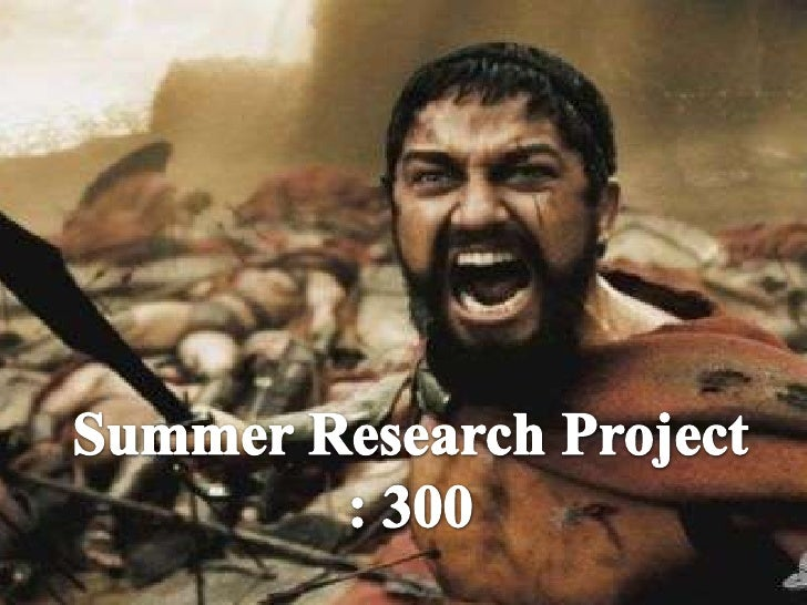 Summer Research Project : 300<br />