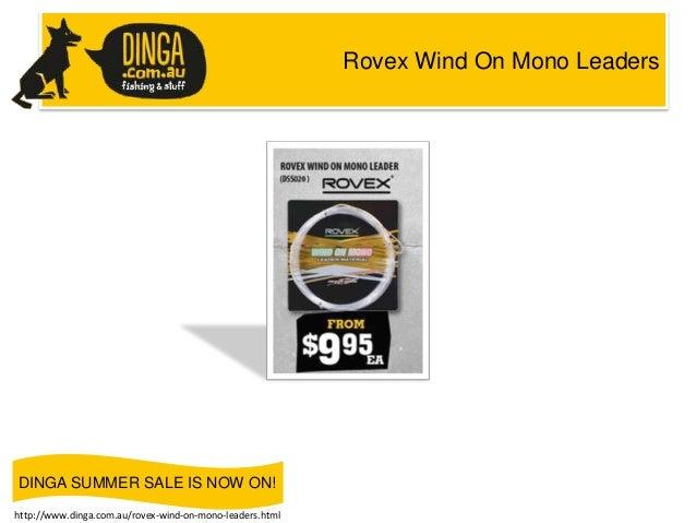 Rovex Wind On Mono Leaders  DINGA SUMMER SALE IS NOW ON! http://www.dinga.com.au/rovex-wind-on-mono-leaders.html