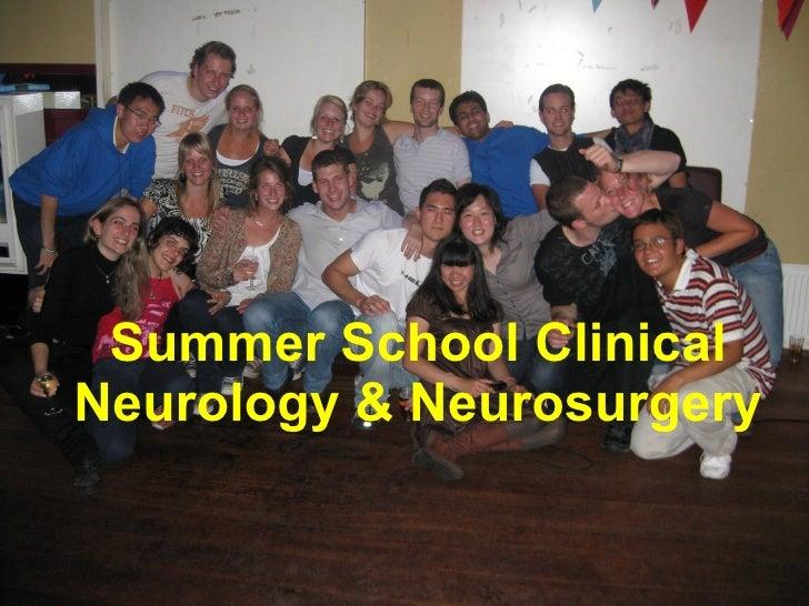 Summer School Clinical Neurology & Neurosurgery