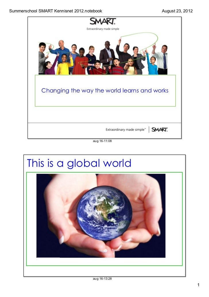 SummerschoolSMARTKennisnet2012.notebook            August23,2012              Changing the way the world learns and w...