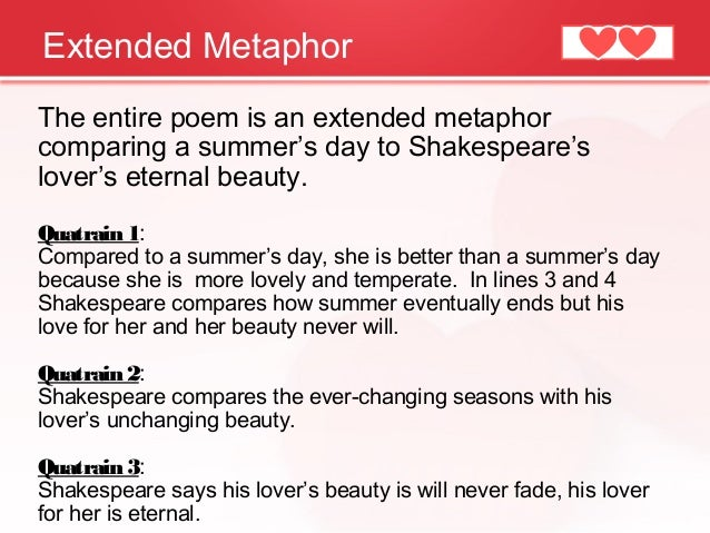 an interpretation of shakespeares shall i compare thee to a summers day This term paper should be an interpretation of shakespeare's famous sonnet 18  first  which suggests a comparison between this person and a summer's day.