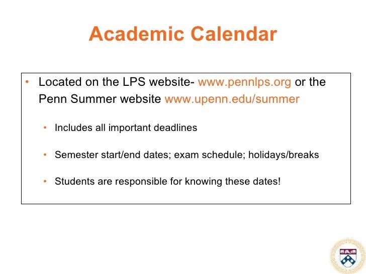 Academic Calendar Upenn.Summer Sessionsgsow