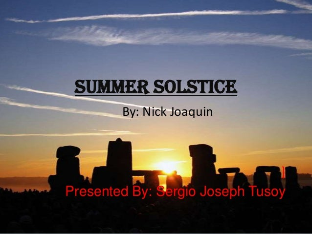 summary of summer solstice