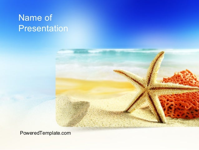 Summer Theme PowerPoint Template. Name Of Presentation PoweredTemplate.com  ...