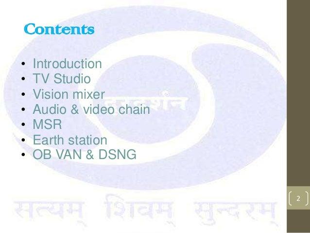 Summer training at Doordarshan presentation Slide 2