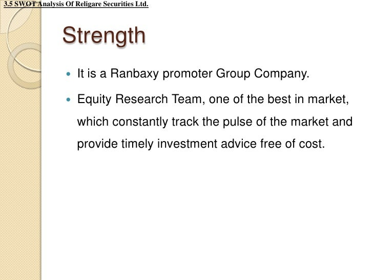 Summer training project in ranbaxy