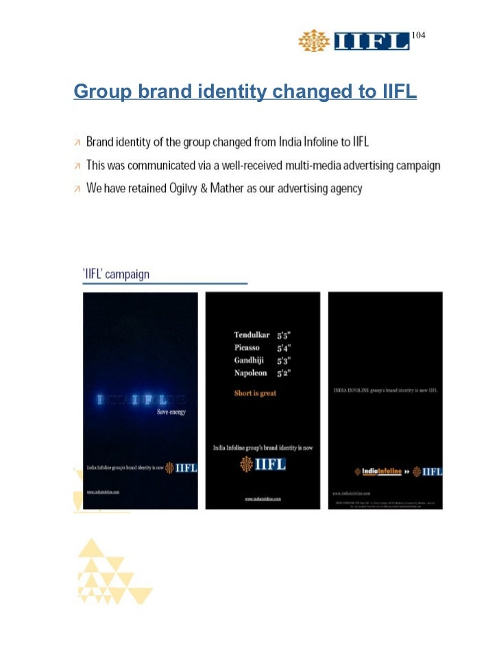 104Group brand identity changed to IIFL