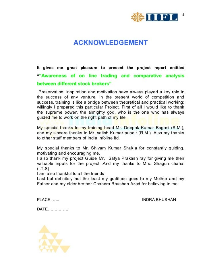 """4                   ACKNOWLEDGEMENTIt gives me great pleasure to present the project report entitled""""""""Awareness of on line..."""