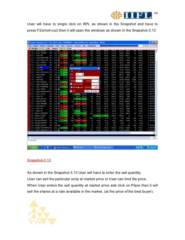 68User will have to single click on RPL as shown in the Snapshot and have topress F2(short-cut) then it will open the wind...