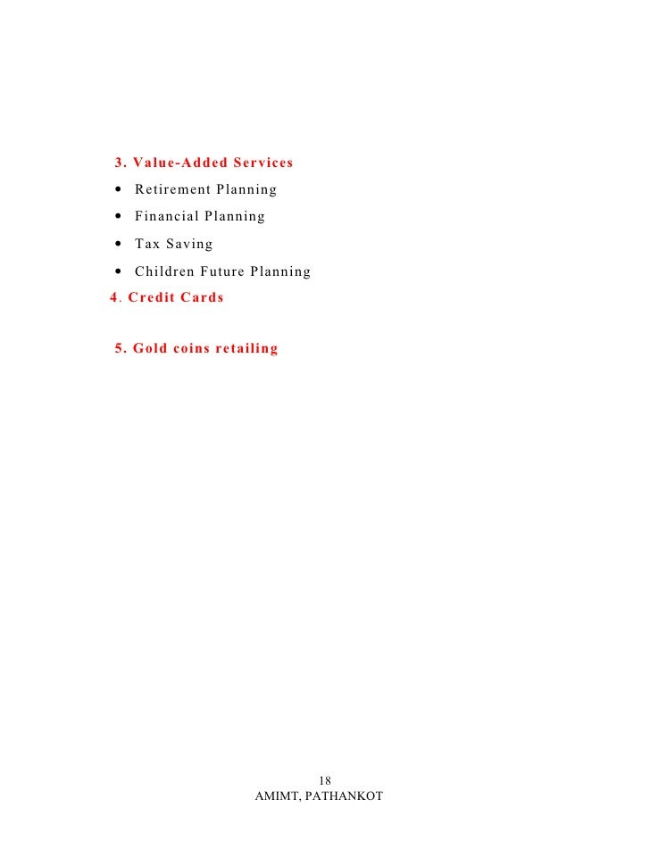 Summer Training Project Report On Reliance Money 1 5 Spc