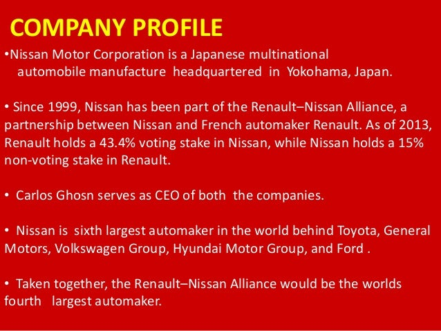 marketing strategies of nissan motor india pvt ltd