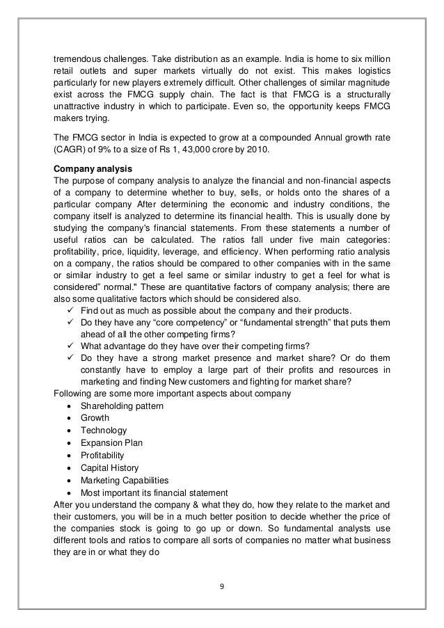 Summer Training Report On Fundamental Analysis - Imagez co