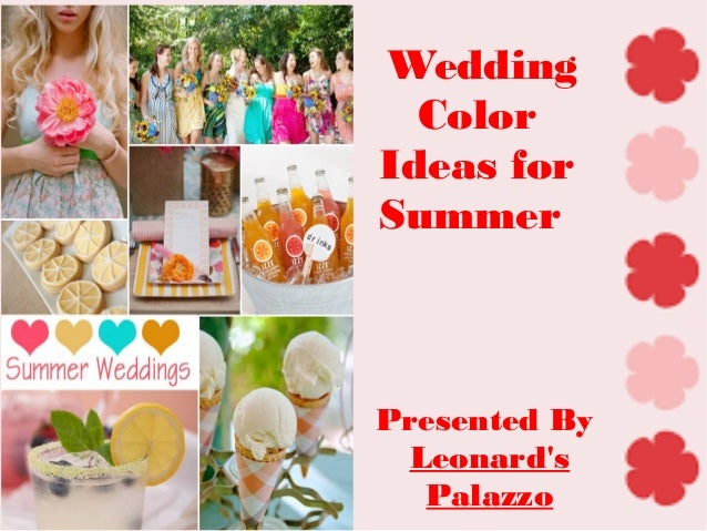 wedding ideas for summer colors summer wedding color ideas 28181