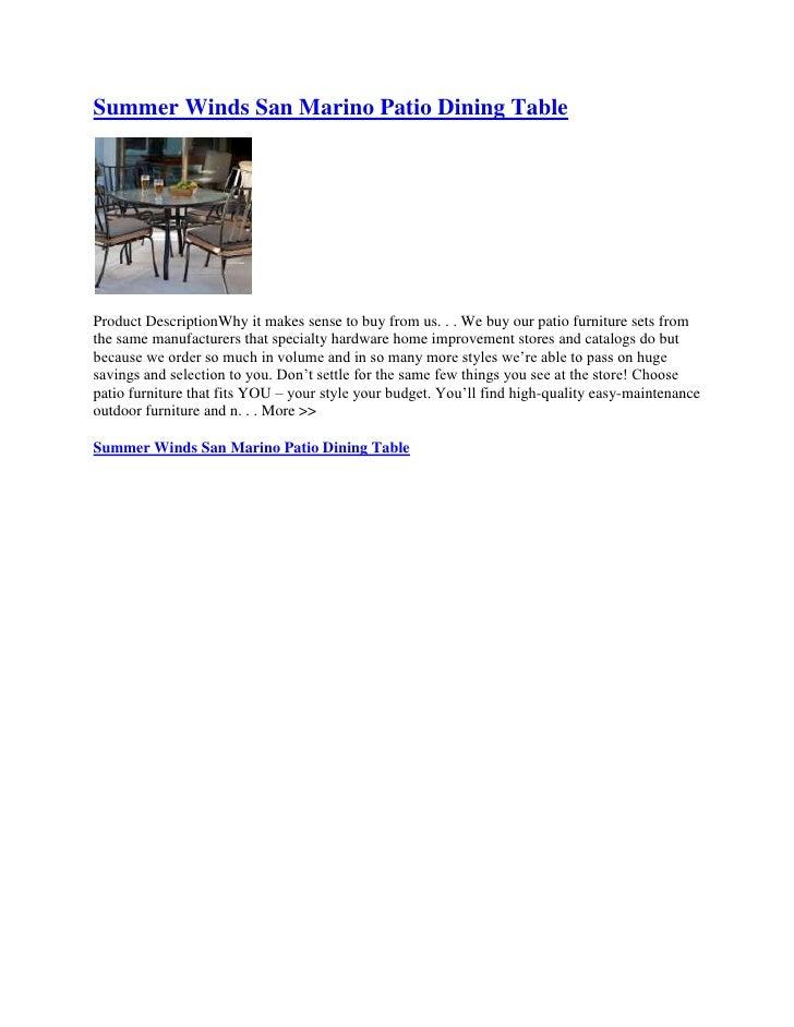 San Marino Patio Furniture