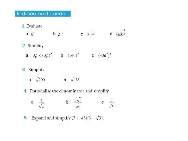 Summer work maths 2012