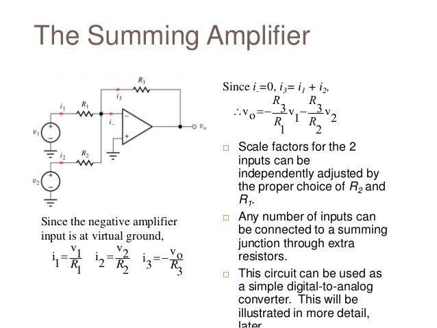 Summing And Difference Amplifier