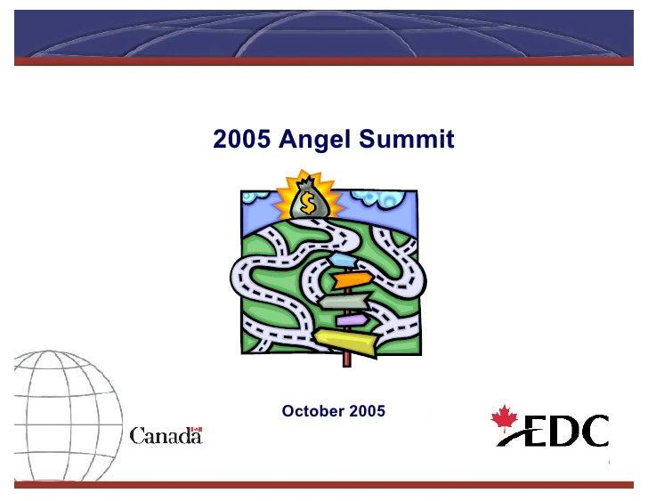 2005 Angel Summit     October 2005
