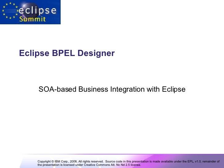 Eclipse BPEL Designer   SOA-based Business Integration with Eclipse