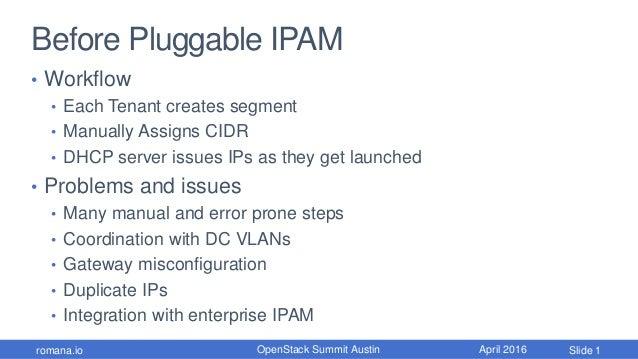 OpenStack Summit Pluggable IPAM Slide 2