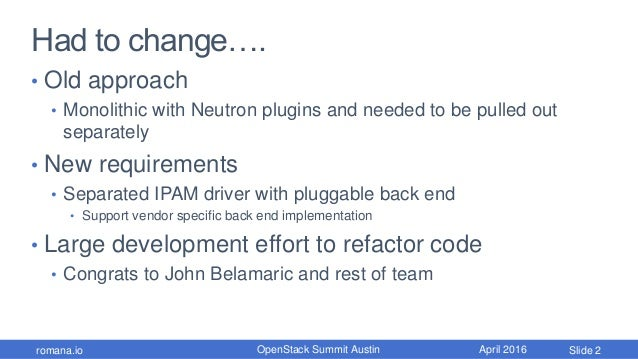 OpenStack Summit Pluggable IPAM Slide 3