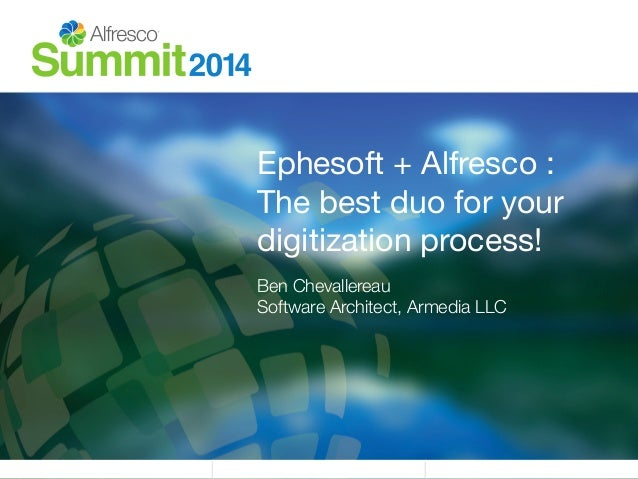Ephesoft + Alfresco :