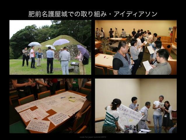 code for japan summit 2015 井戸端会議を(時々)開催しています 福岡・久留米・熊本など近隣の地域からご参加いただきます。 Code for Saga なのに…