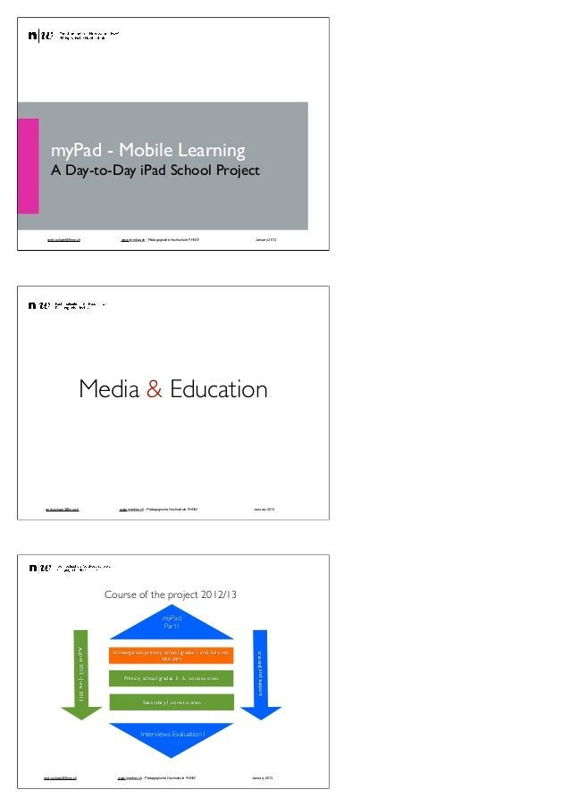 myPad - Mobile Learning       A Day-to-Day iPad School Project     andy.schaer@fhnw.ch                                    ...