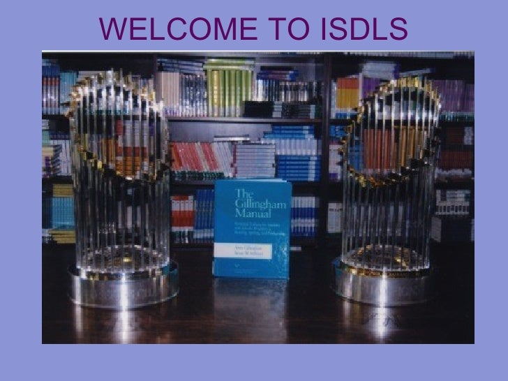 WELCOME TO ISDLS