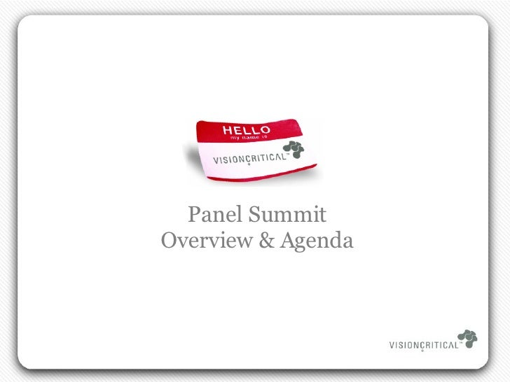 Panel Summit Overview & Agenda