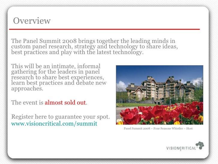 Panel Summit 2008 Slide 2