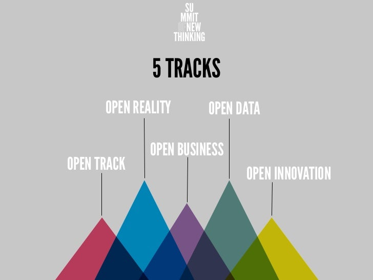 5 TRACKS      OPEN REALITY      OPEN DATA              OPEN BUSINESSOPEN TRACK                              OPEN INNOVATION