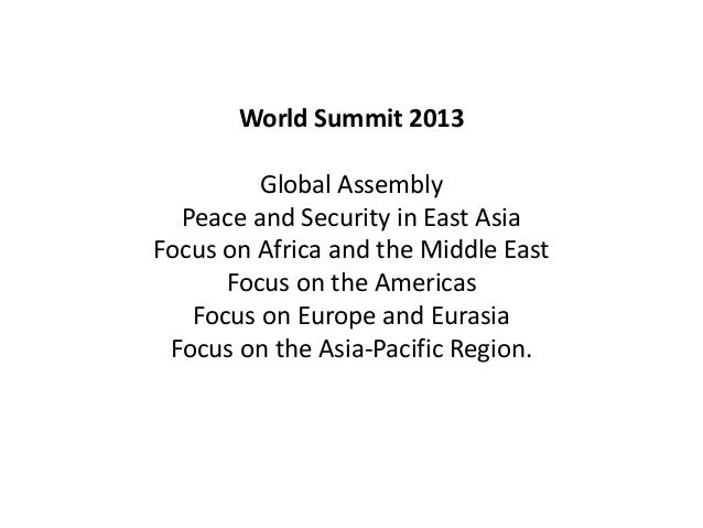 UNITED STATES• We believe yourparticipation in this WorldSummit will make animpact and help promotepeace, security and hum...
