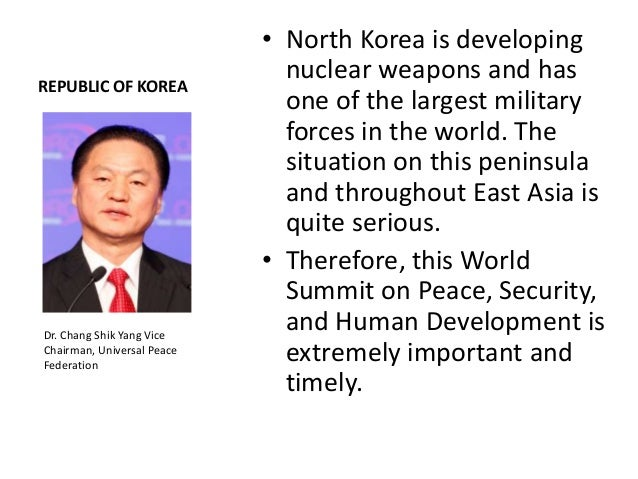 REPUBLIC OF KOREA• Sixty years after the KoreanWar, Korea has becomeone of the top economiesof the world. That wouldnot ha...