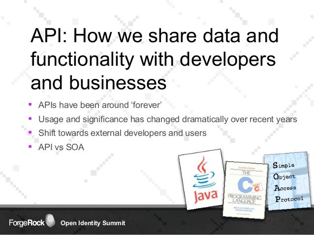 A Common API & UI for Building Next Generation Identity Services Slide 3