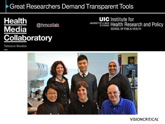 Great Researchers Demand Transparent Tools
