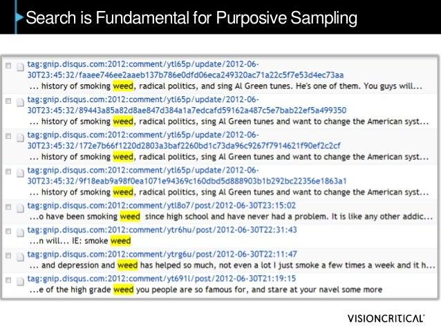 Search is Fundamental for Purposive Sampling