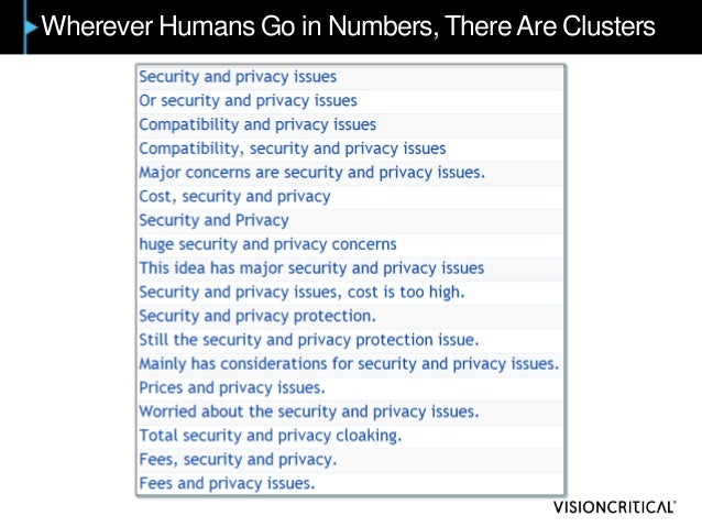 Wherever Humans Go in Numbers, There Are Clusters