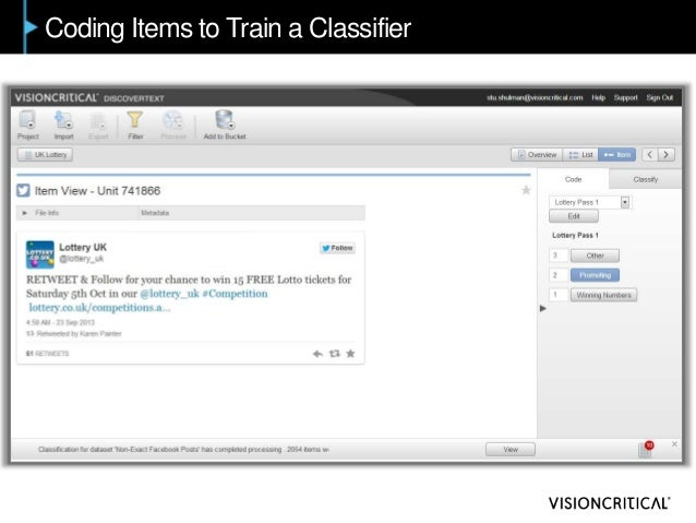 Coding Items to Train a Classifier