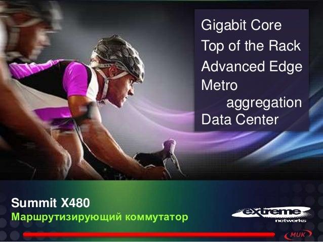 Summit X480 Маршрутизирующий коммутатор Gigabit Core Top of the Rack Advanced Edge Metro aggregation Data Center