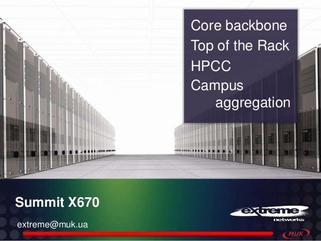 Core backbone                 Top of the Rack                 HPCC                 Campus                    aggregationSu...