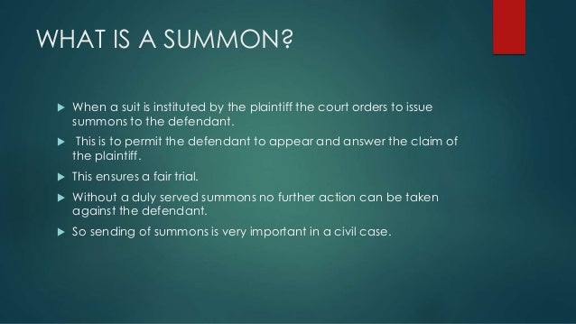 service of summons outside india