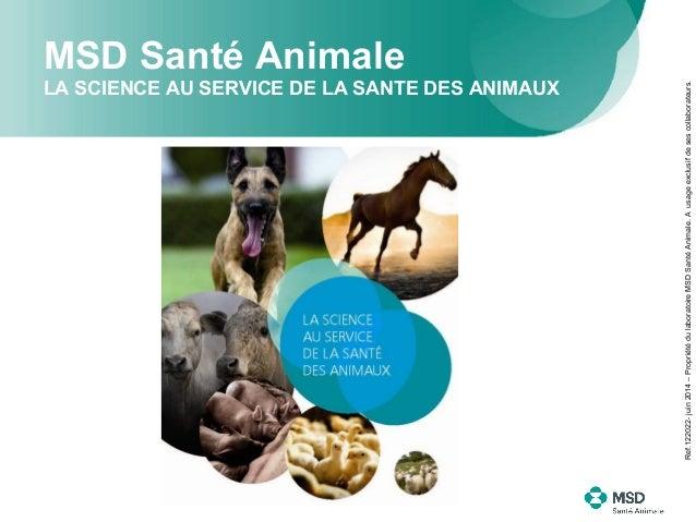 MSD Santé Animale LA SCIENCE AU SERVICE DE LA SANTE DES ANIMAUX Ref.122022-juin2014–PropriétédulaboratoireMSDSantéAnimale....