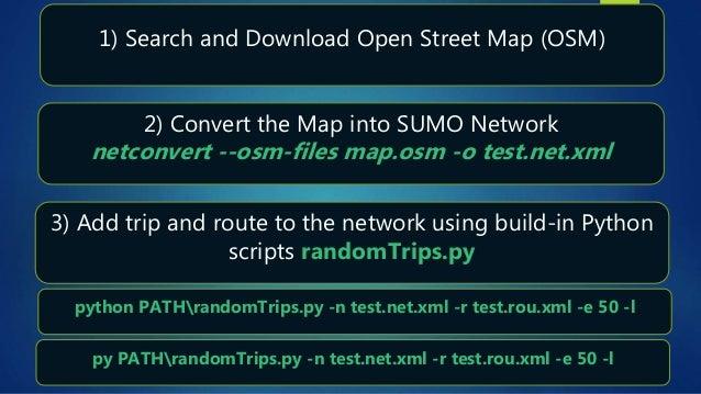 Sumo tutorial: 1) Manual Network creation, 2) OSM to Netwrok
