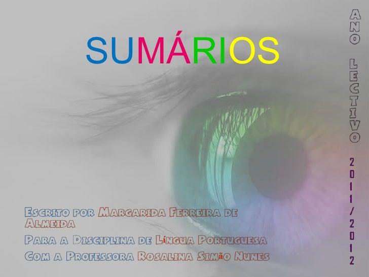 SUMÁRIOS