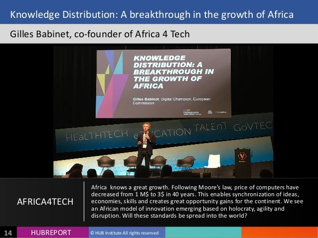 HUB  REPORTHUBREPORT ©  HUB  Institute  All  rights  reserved14 Knowledge  Distribution:  A  breakthroug...