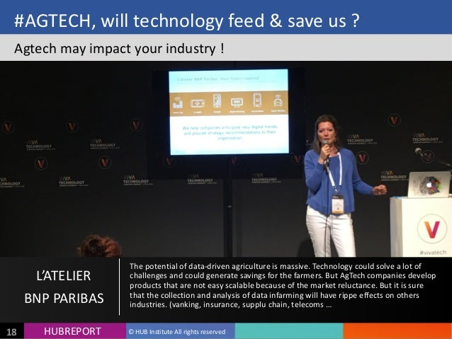 HUB  REPORTHUBREPORT ©  HUB  Institute  All  rights  reserved18 #AGTECH,  will  technology  feed  &  ...