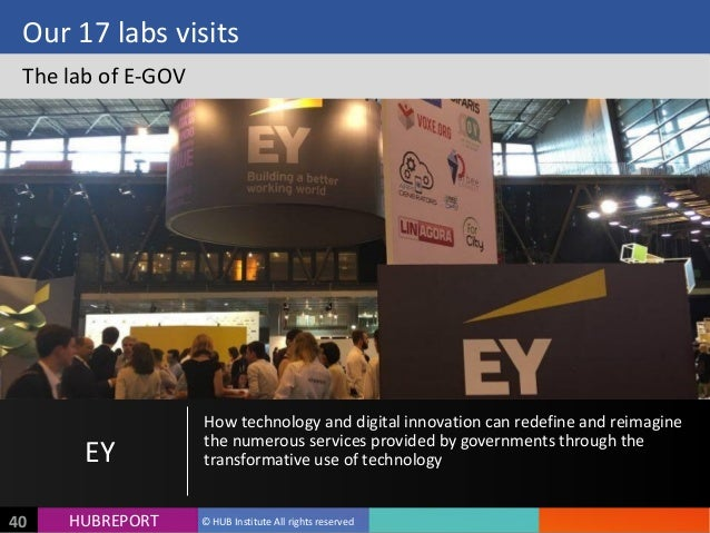 HUB  REPORTHUBREPORT ©  HUB  Institute  All  rights  reserved40 Our  17  labs  visits The  lab  of ...