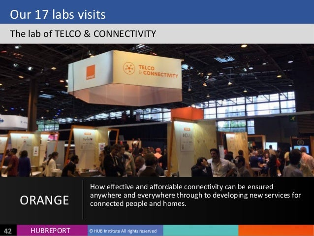 HUB  REPORTHUBREPORT ©  HUB  Institute  All  rights  reserved42 Our  17  labs  visits The  lab  of ...